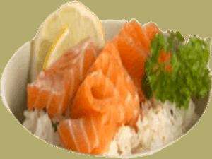 salmon cirashi