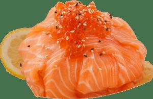 salmon ikura cirashi